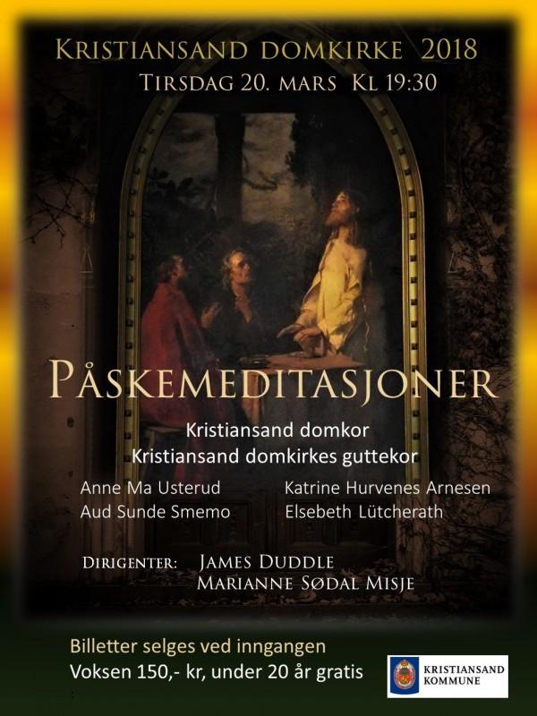 Tredjeutkast Stående plakat påskemeditasjoner